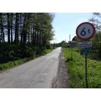 Droga ww kierunku Przanwki odcinek od drogi wojewdzkiej Foto Tomasz Guzek